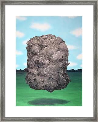 Light Rock Framed Print