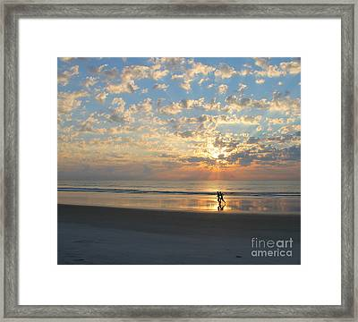 Light Run Framed Print