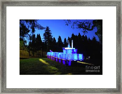 Framed Print featuring the photograph Light Sculpture by Bill Thomson