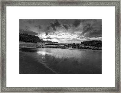 Light Shining On The Beach II Framed Print