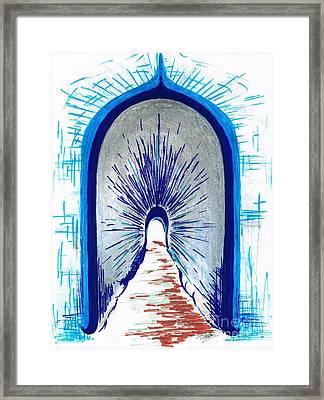 Light Shining Through Framed Print by Teresa White