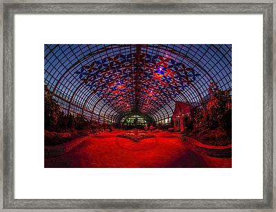 Light Show At The Conservatory Framed Print by Sven Brogren