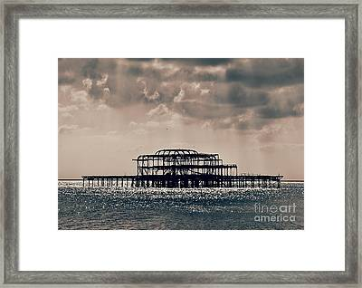 Light Shower Framed Print