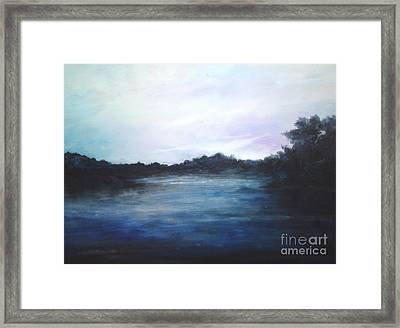 Framed Print featuring the painting Light Sky by Rushan Ruzaick