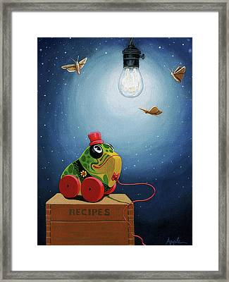 Light Snacks Original Whimsical Still Life Framed Print