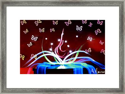 Light Spill Framed Print