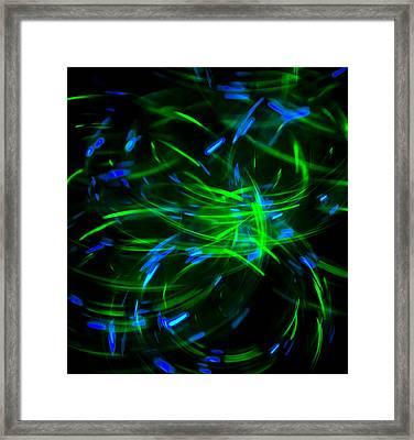 Light Spirals 3 Framed Print by Chris Rodenberg