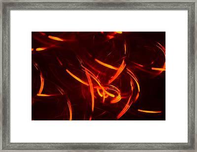 Light Spirals 7 Framed Print by Chris Rodenberg