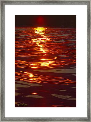Light Stream - Lake Geneva Wisconsin Framed Print by Bruce Thompson