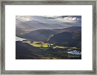 Light Streams, Kinloch Rannoch Framed Print by Rod McLean