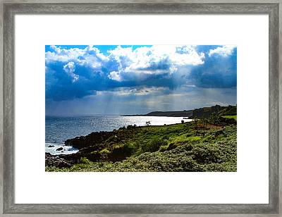 Light Streams On Kauai Framed Print