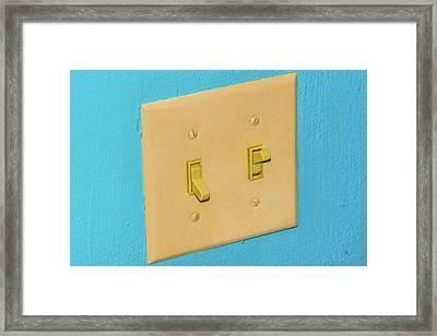 Light Switch Framed Print