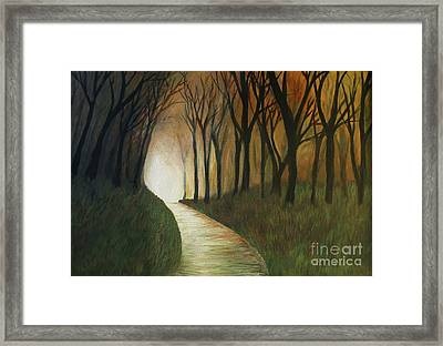 Framed Print featuring the painting Light The Path by Christy Saunders Church