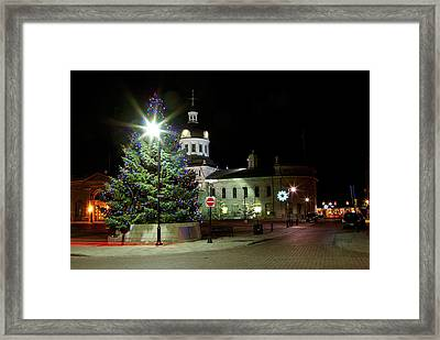 Light The Tree Framed Print