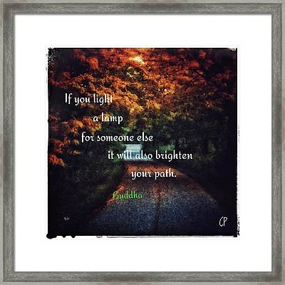 Light The Way Framed Print by Christine Paris