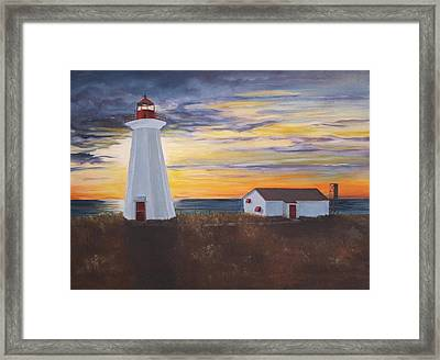 Framed Print featuring the painting Light The Way by Diane Daigle
