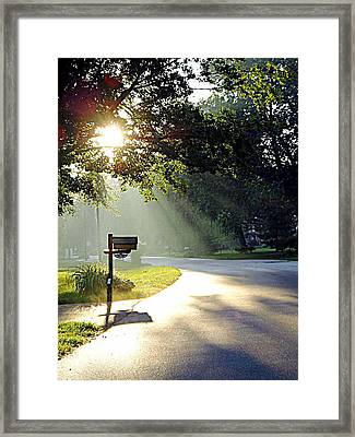 Light The Way Home Framed Print by Guy Ricketts