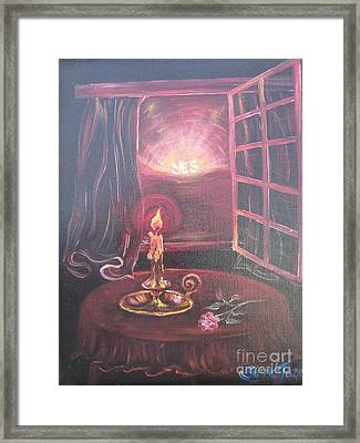 Flying Lamb Productions      Light The Yes Candle Framed Print