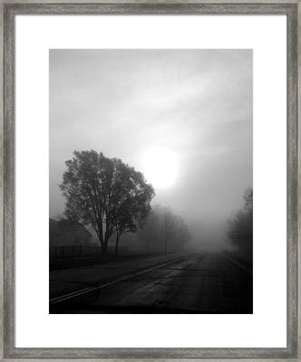 Light Through A Fog Framed Print