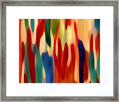 Light Through Flowers Framed Print