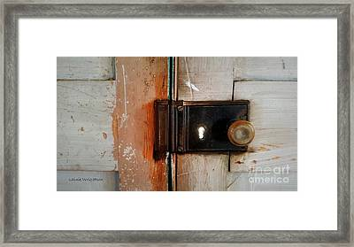 Light Through The Keyhole Framed Print