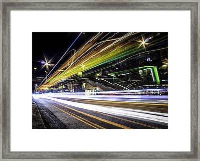 Light Trails 1 Framed Print by Nicklas Gustafsson