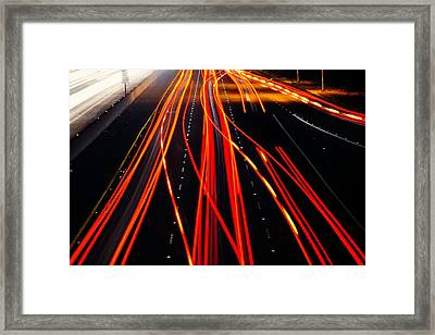 Light Trails Framed Print by Garry Gay