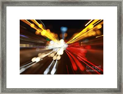 Light Trails Framed Print