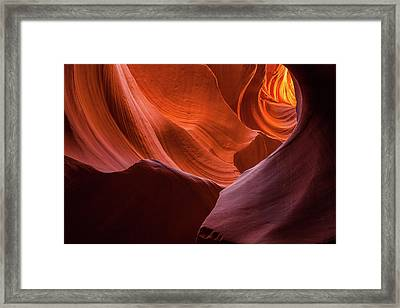 Light Tunnel - Antelope Lower Framed Print