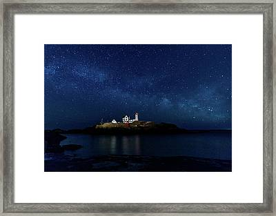 Light Up Nubble Lighthouse Framed Print