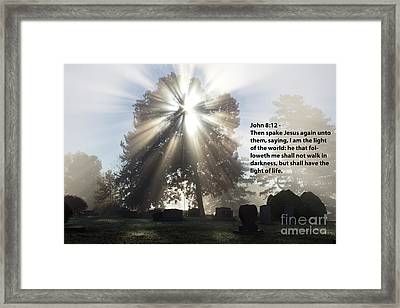 Light Verse Framed Print