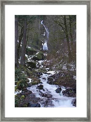 Light Wahkeena Winter Framed Print by Dylan Punke