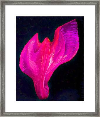 Light Warrior Goddess - Pink/purple Framed Print by Artistic Mystic