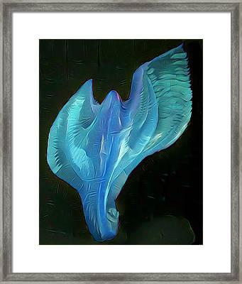 Light Warrior Goddess - Teal Framed Print by Artistic Mystic