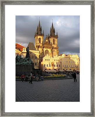 Framed Print featuring the pyrography Light  by Yury Bashkin