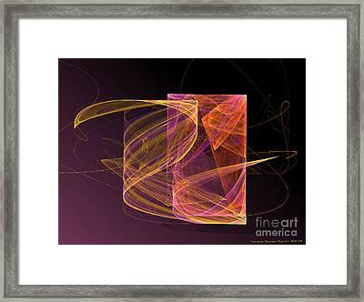 Lightbox Framed Print by Sandra Bauser Digital Art