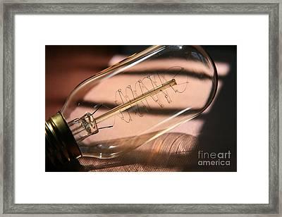 Lightbulb Moment  Framed Print