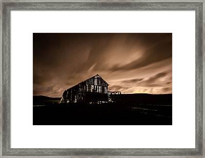 Lighted Barn Framed Print