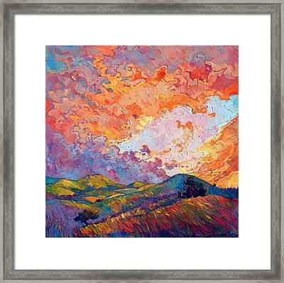 Lighted Sky Framed Print