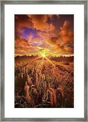 Lighten Our Darkness Framed Print