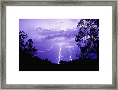 Lightening Bolts Framed Print by Michelle Wrighton