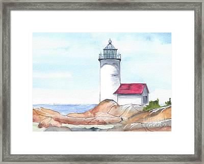 Lighthouse 12 Framed Print by Judith Rice