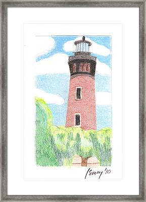 Framed Print featuring the painting Lighthouse 4 by Rod Ismay