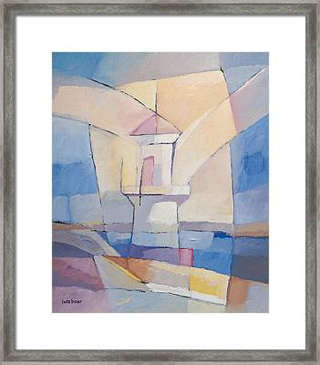 Lighthouse Abstract Framed Print by Lutz Baar