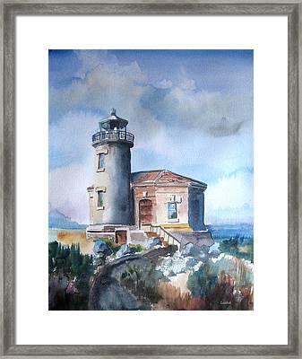 Lighthouse At Bandon Framed Print