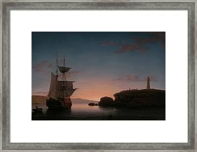Lighthouse At Camden Maine Framed Print by Mountain Dreams