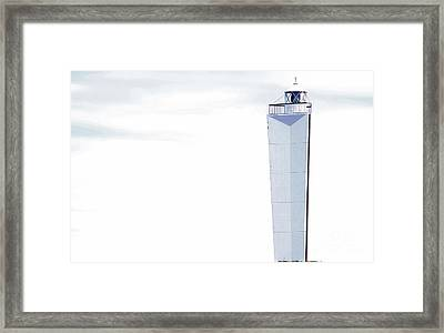 Framed Print featuring the photograph Lighthouse At Cape Jervis by Stephen Mitchell