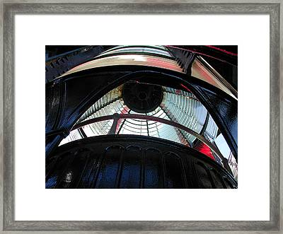 Lighthouse At Cape Meares Framed Print by Laurie With