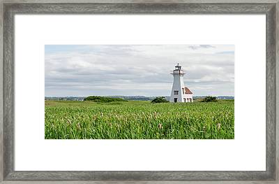 Framed Print featuring the photograph New London Lighthouse At French River by Rob Huntley