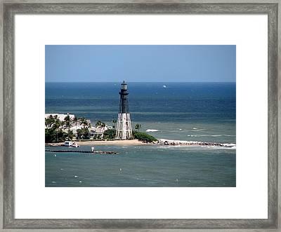Lighthouse At Hillsboro Beach, Florida Framed Print